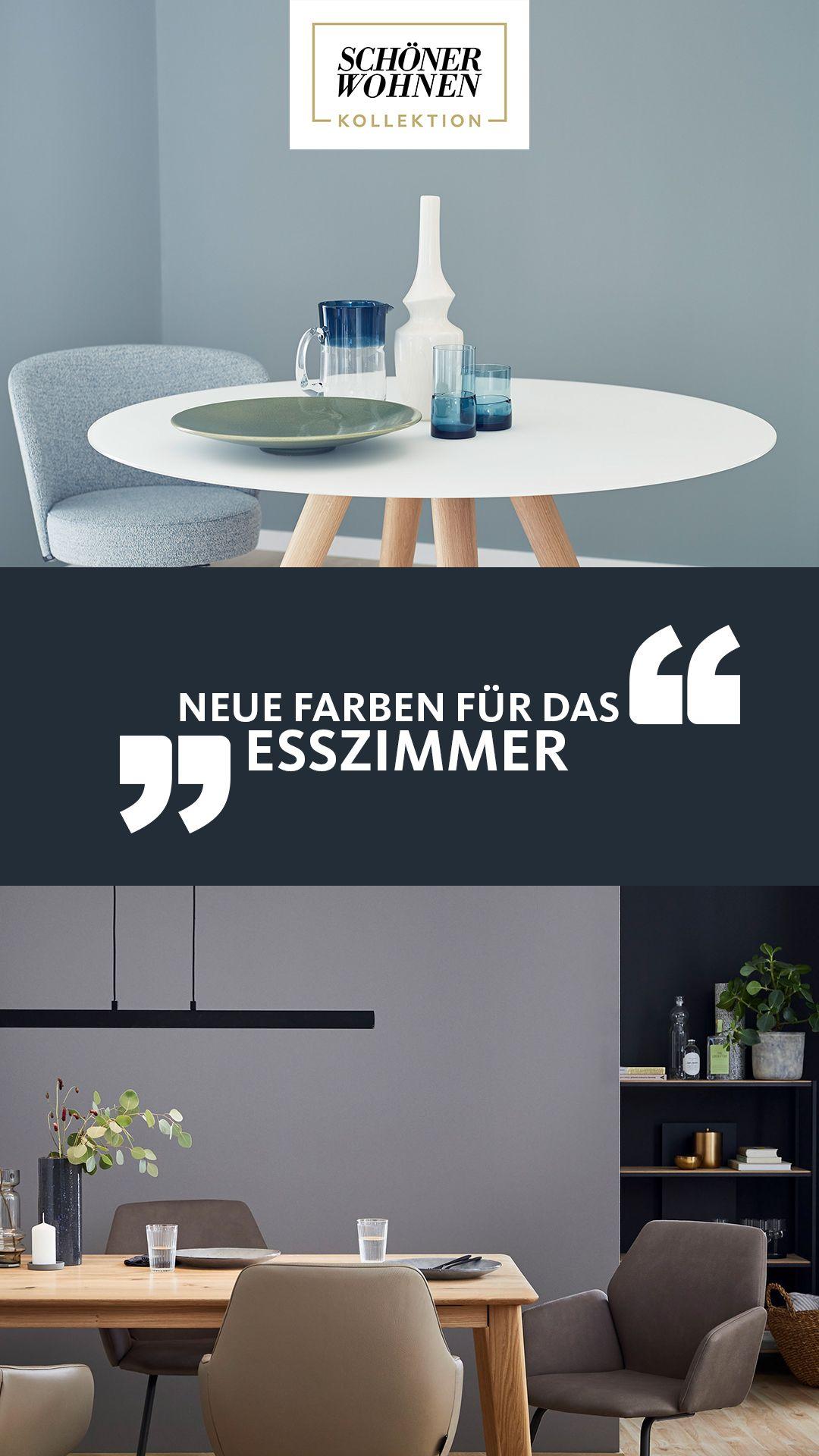 Esszimmer Farben Esstisch Einrichten Wandfarben Blau Grau Schoner Wohnen Kollektion In 2020 Wohnen Schoner Wohnen Farbe Schoner Wohnen