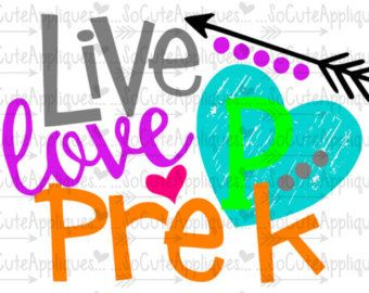 svg dxf eps cut file live love pre k svg teacher svg back to rh pinterest com pre k clipart black and white pre k clip art free classroom helpers