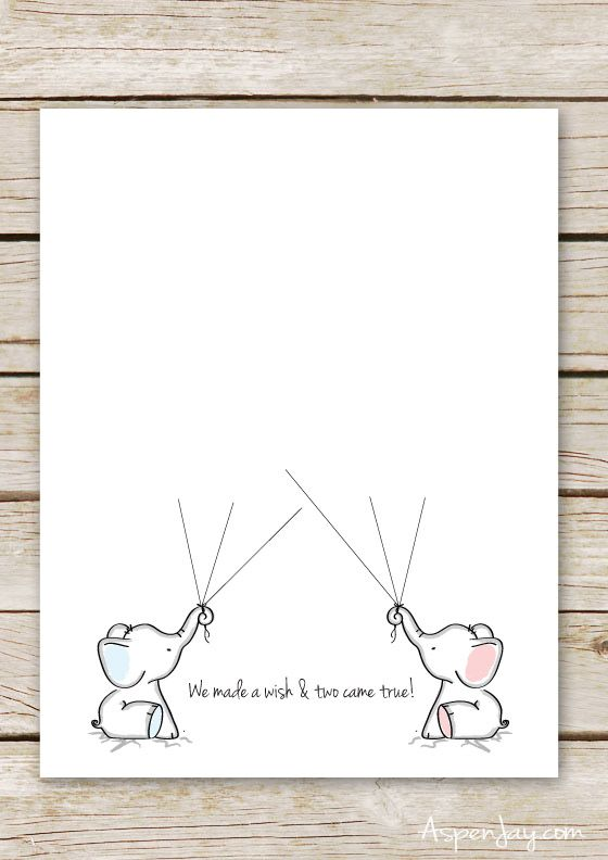 graphic regarding Baby Shower Guest Book Printable identified as Dual Elephant Little one Shower Visitor Reserve Printable Cunning
