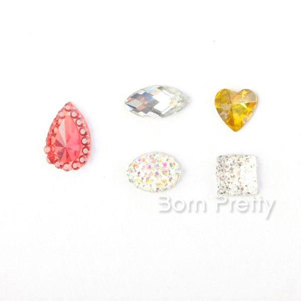 $8.99 50шт тростника Нейл-арта наклейки Фимо 3D фрукты в форме украшения ногтей - BornPrettyStore.com