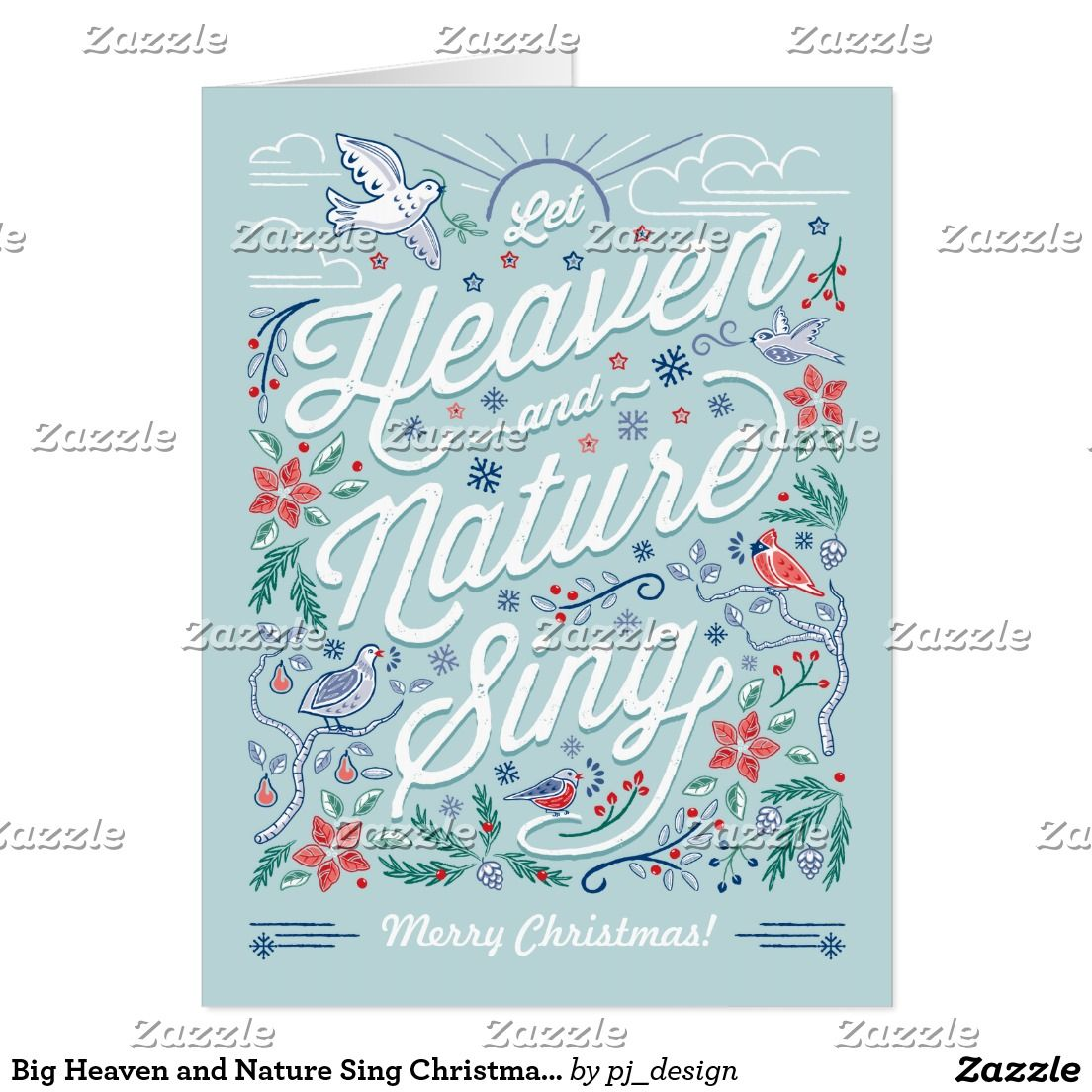 big heaven and nature sing christmas card mint - Mint Christmas Cards