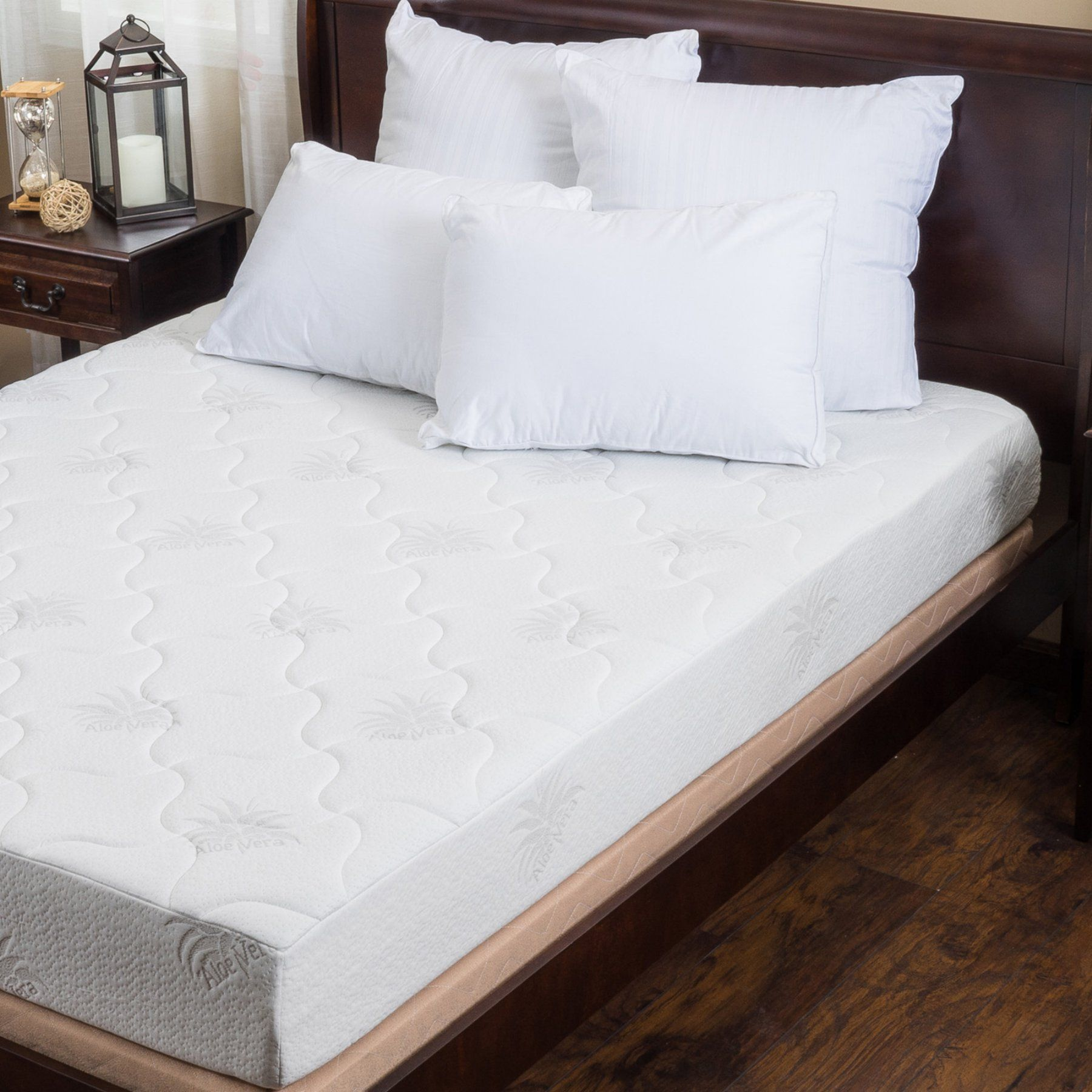 best selling home decor 8 in aloe gel memory foam mattress