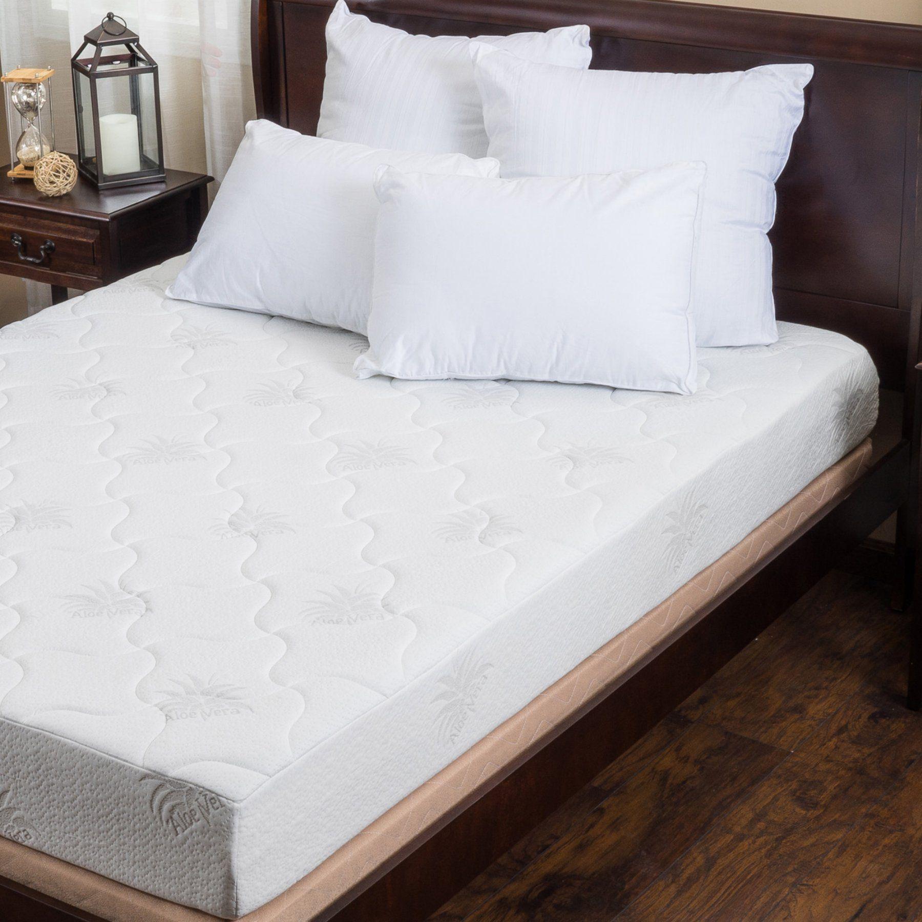 best selling home decor 8 in aloe gel memory foam mattress