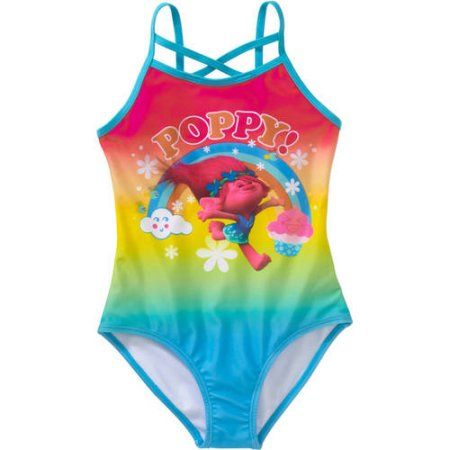 59d30807c7491 Trolls Girls' Poppy One Piece Swimsuit, Size: 10/12, Pink | Products ...