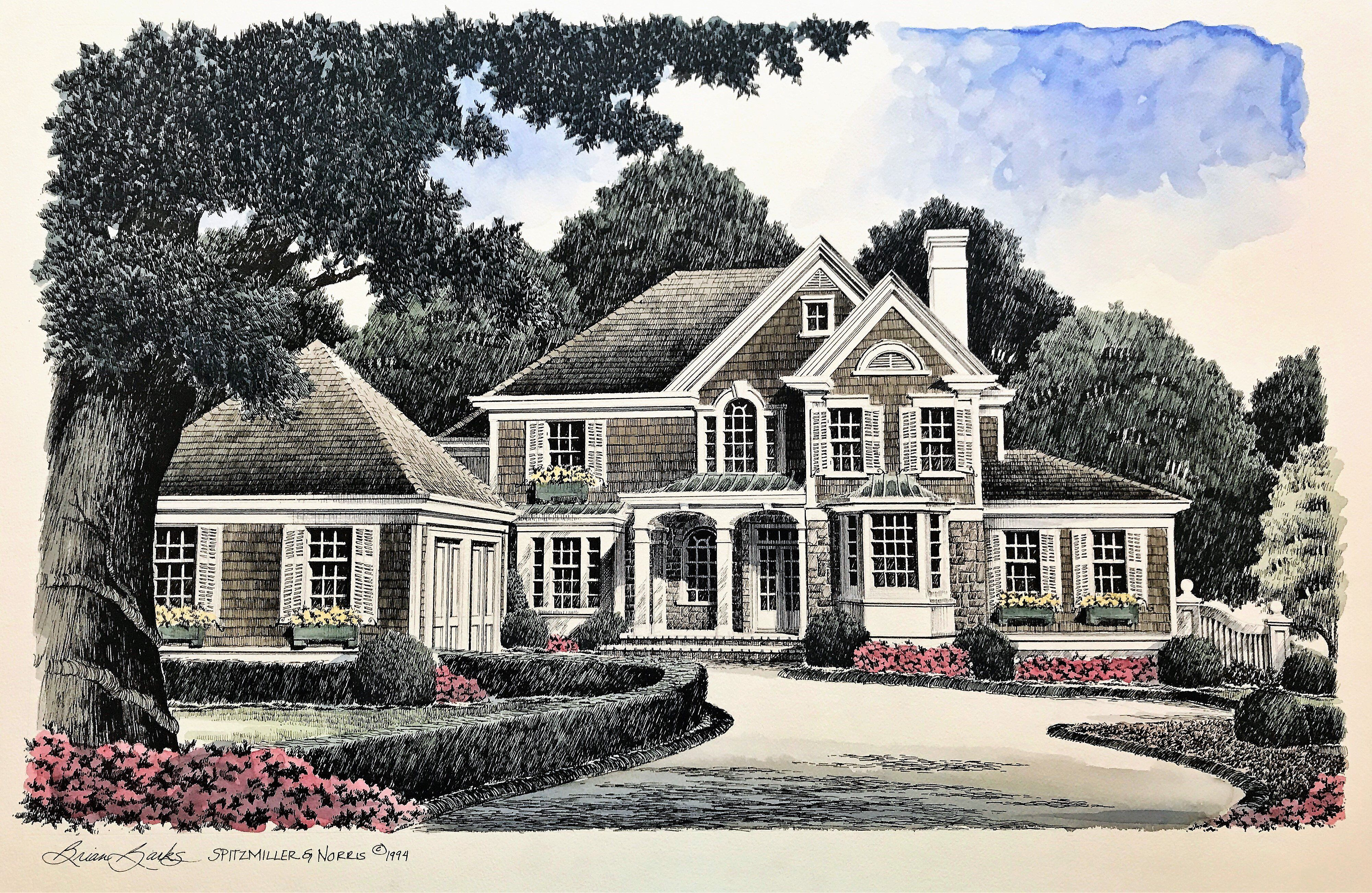 Stone Harbor Spitzmiller Norris House Plans Brick Cottage Maine House Affordable House Plans