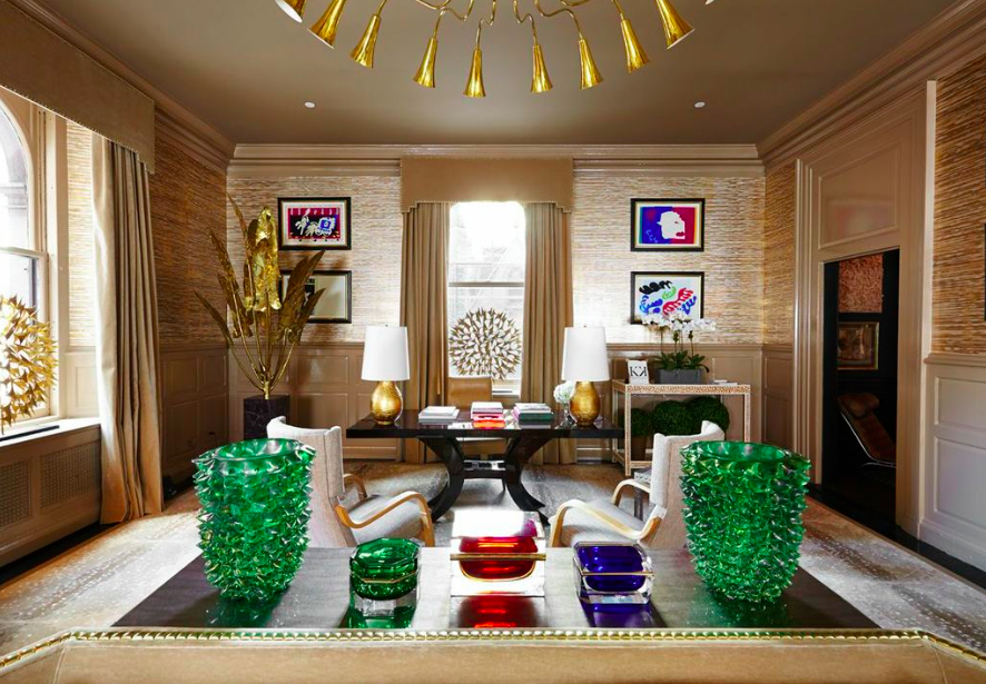 A Golden Room By Kirsten Kelli Inc At The Kips Bay Show House
