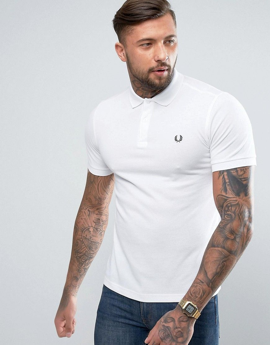 1670b4ca0 FRED PERRY SLIM FIT PLAIN POLO - WHITE. #fredperry #cloth # | Fred ...