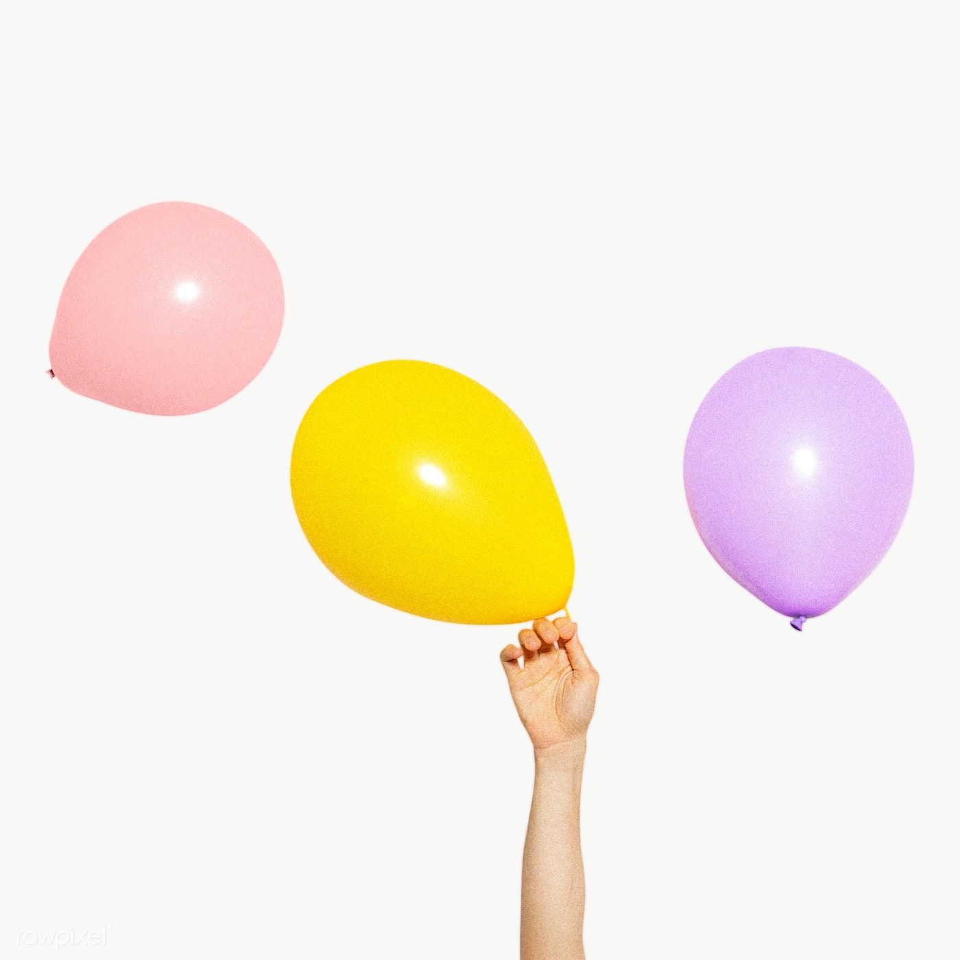 Hand Holding A Yellow Balloon Transparent Png Premium Image By Rawpixel Com Kwanloy Yellow Balloons Balloons Balloon Background