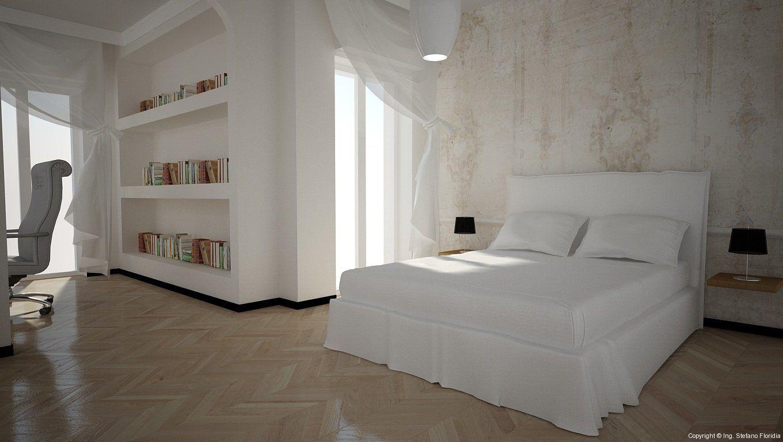 Armadio A Muro Shabby Chic : Camera da letto classica con armadio a parete! disposizione dei