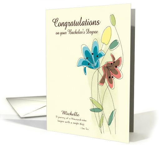 Custom congratulations for bachelors degree with name card custom congratulations for bachelors degree with name card greetingcarduniversejjbdesigns m4hsunfo