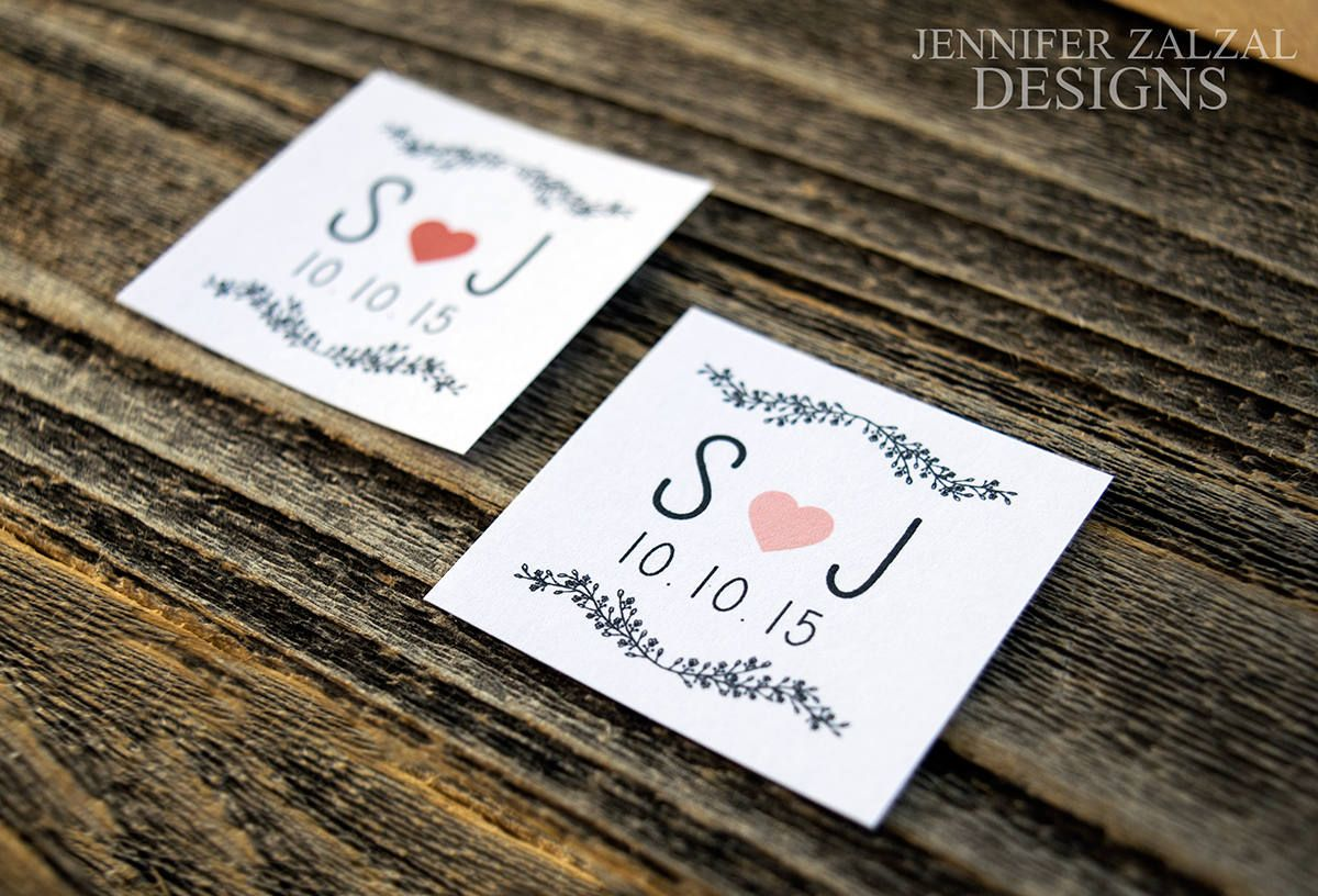 Wedding Initial Stickers | Wedding Favor Stickers | Wedding Labels ...