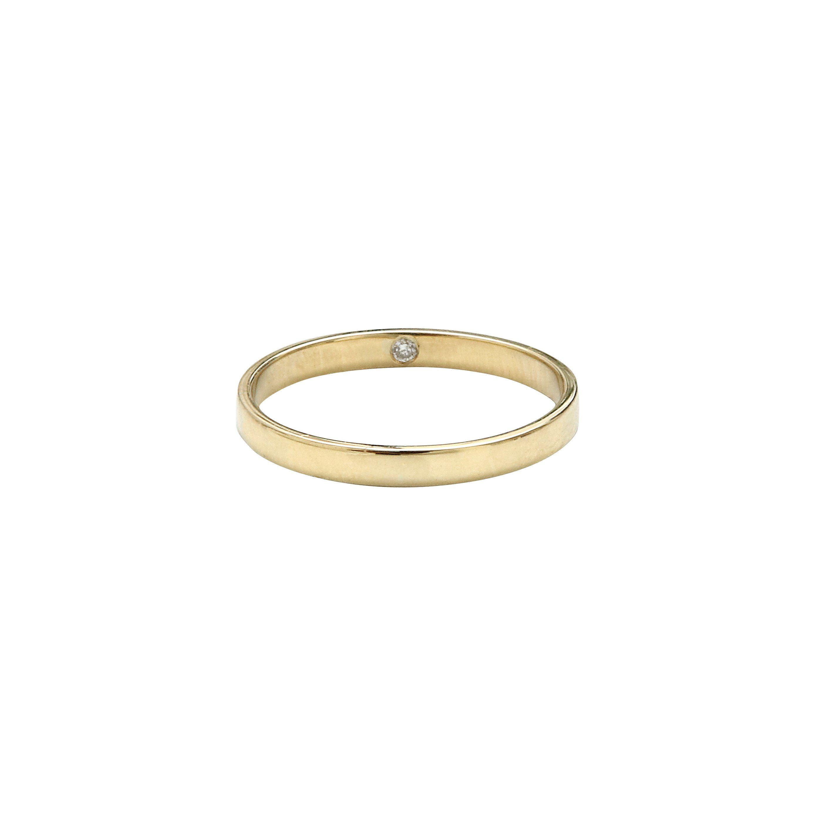 Image Result For Ring With Diamond Inside Minimalist Wedding Rings Wedding Rings Minimalist Rings