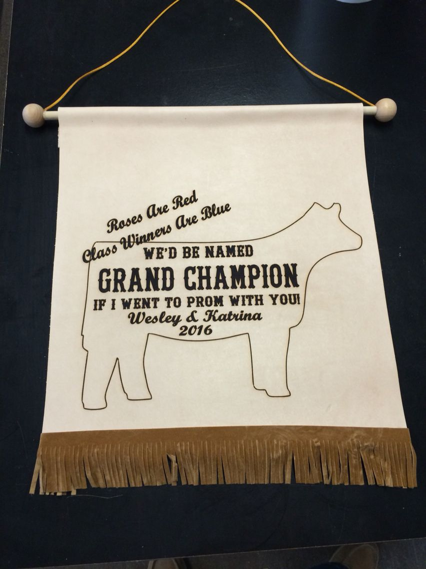 prom invite leather banner | trophy gallery in 2018 | pinterest