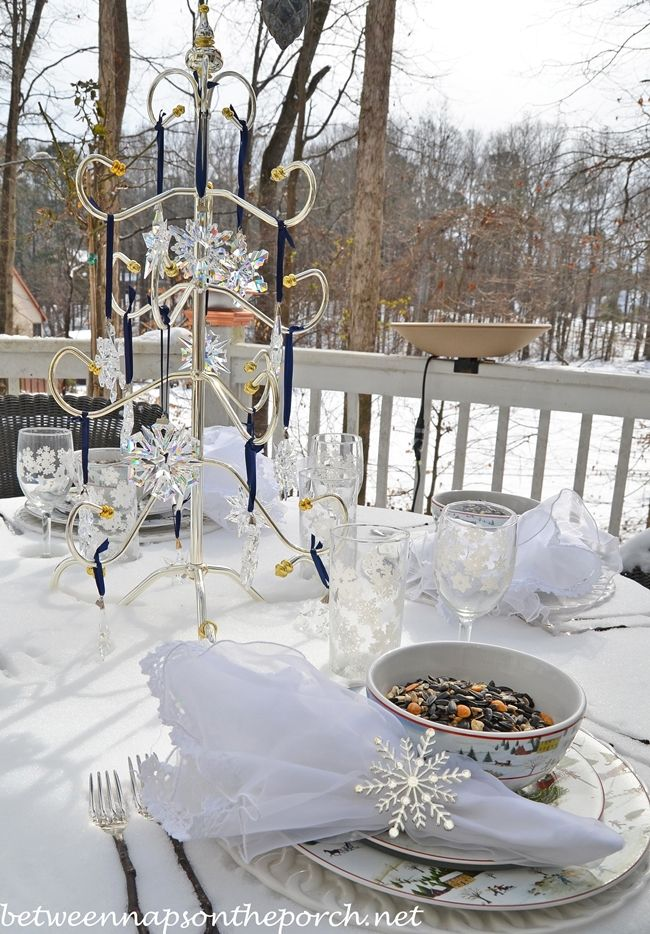 A Winter Table Setting, Tablecloth by Mother Nature