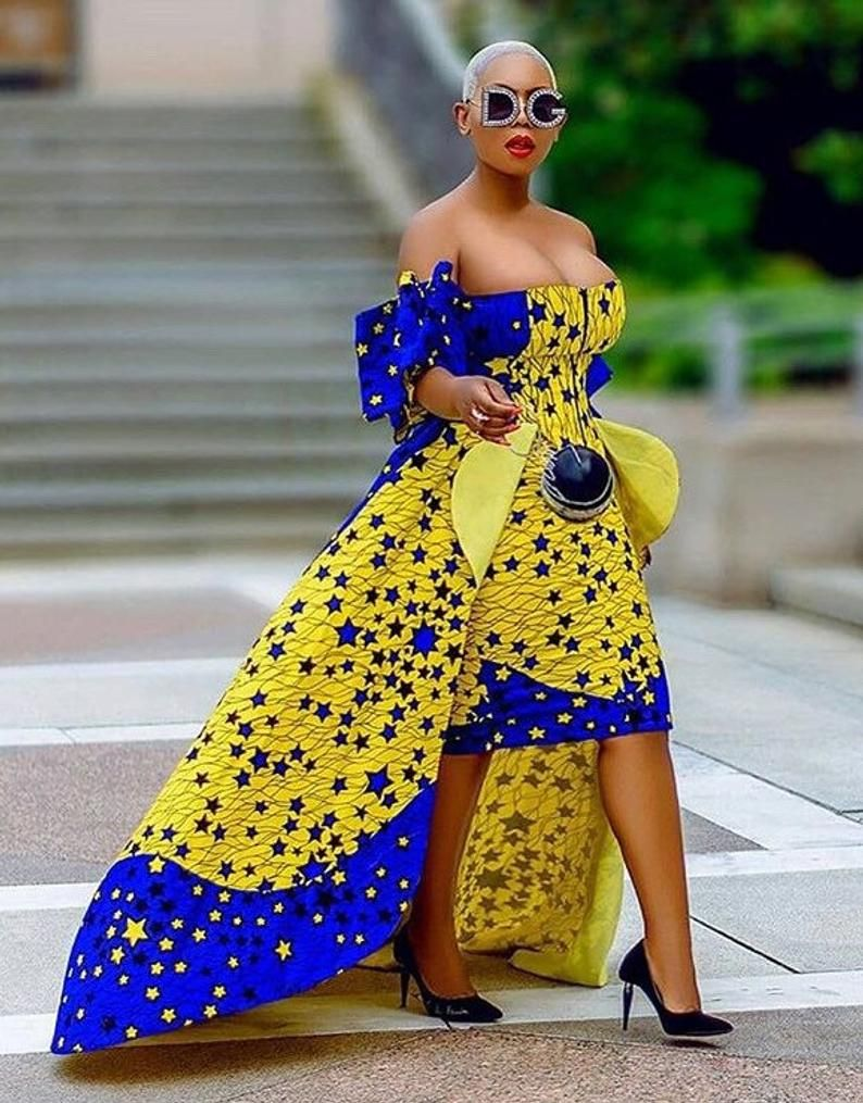 African print mermaid dress,African clothing for women,African wedding dress reception dress,party dress,prom dress,African wedding guest