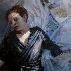 Korin Faught; Romantic Me, 2013; Oil on Linen; 8 x 8 inches