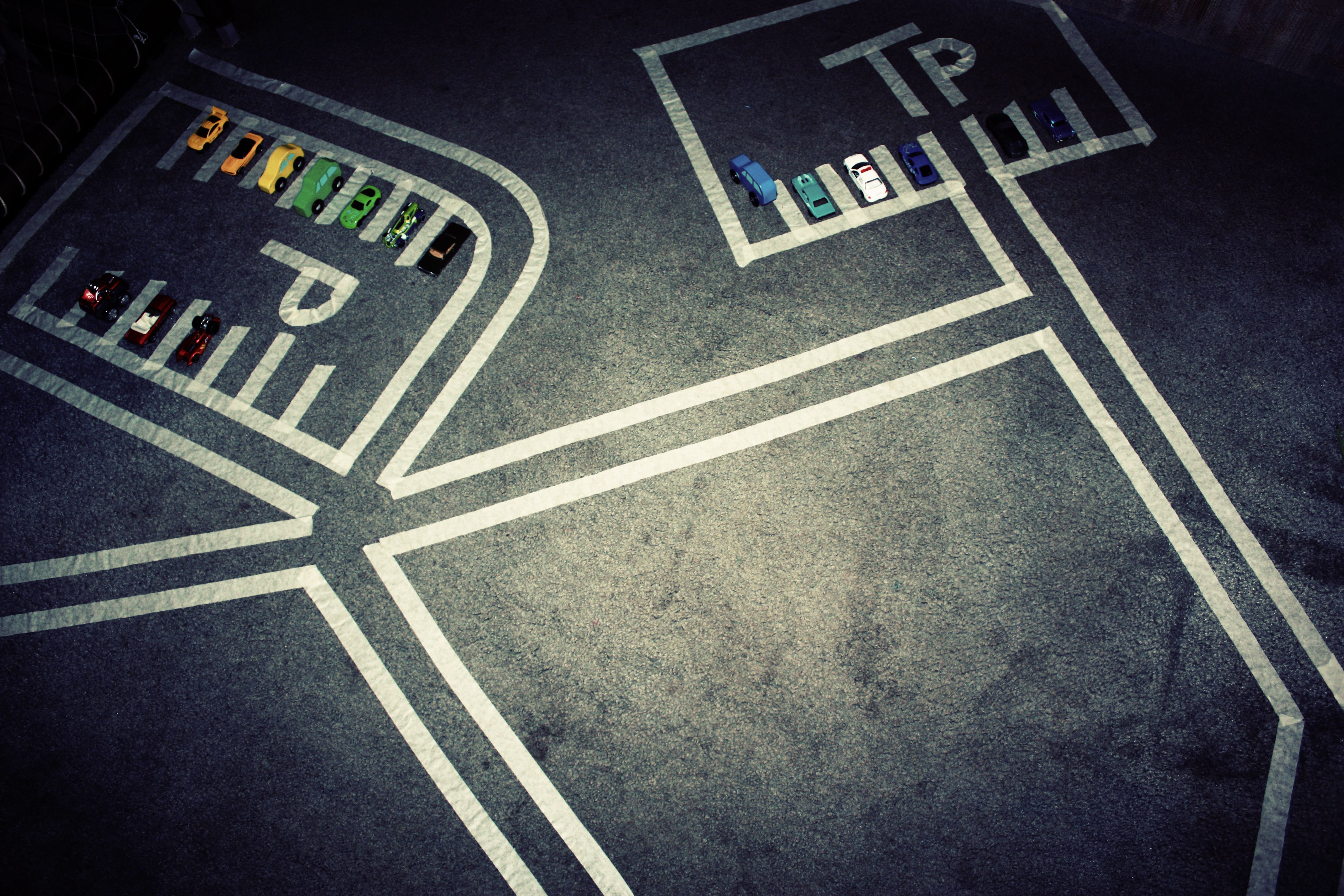 Bored Kids Build A Car Track With Masking Tape