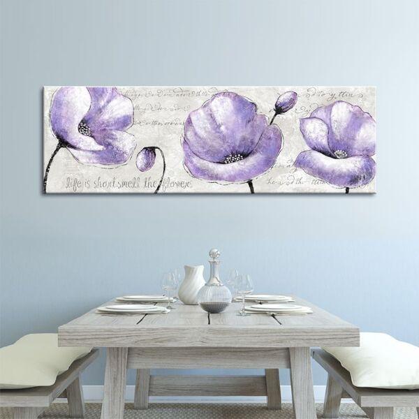 Ideas decoración paredes Cuadro amapolas lilas Decorar Paredes - decoracion de paredes