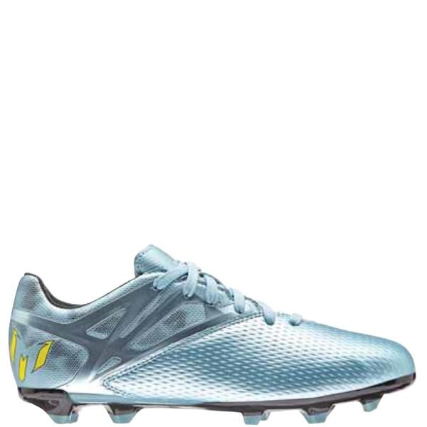 adidas Messi FG/AG J Matte Ice Metallic/Bright Yellow/Black Youth Soccer  Cleats - model