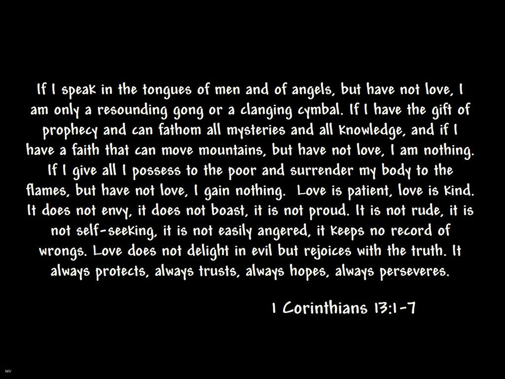 I Corinthians 13 1 7 The Love Chapter