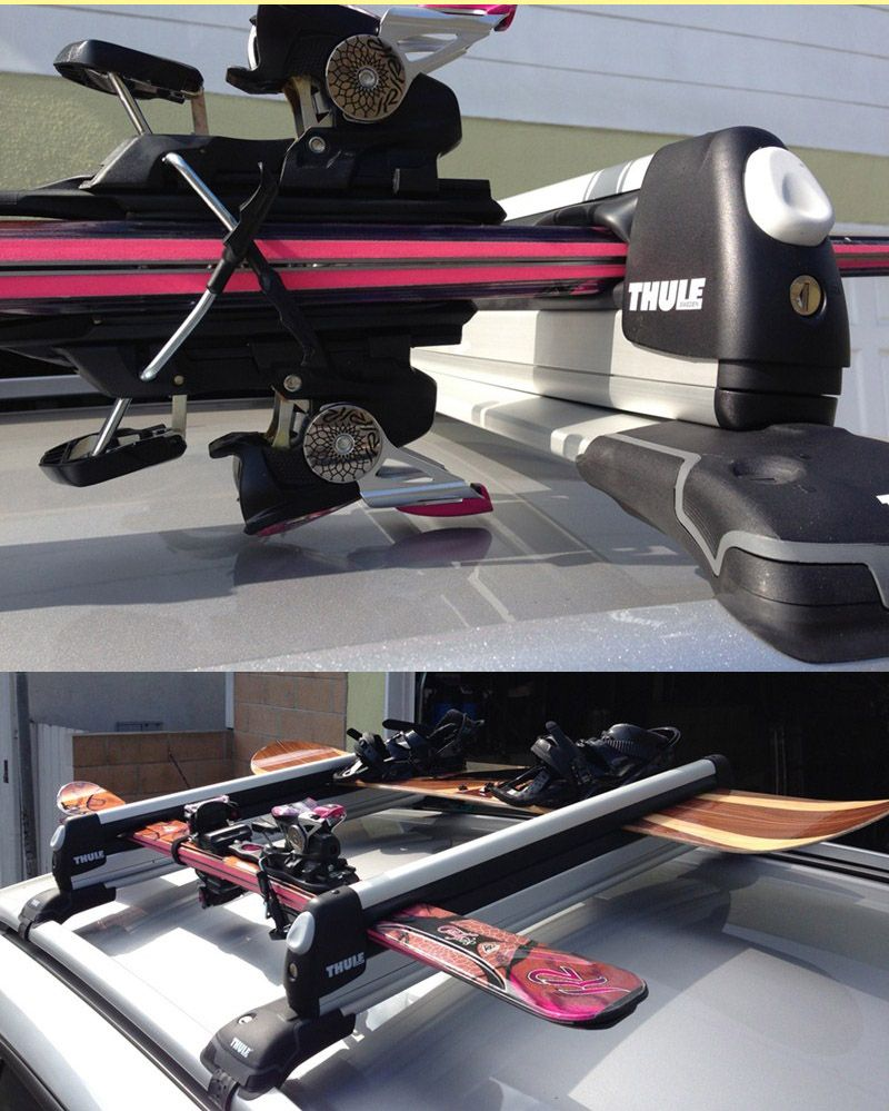 Thule Pull Top Slide Out Ski And Snowboard Carrier 6