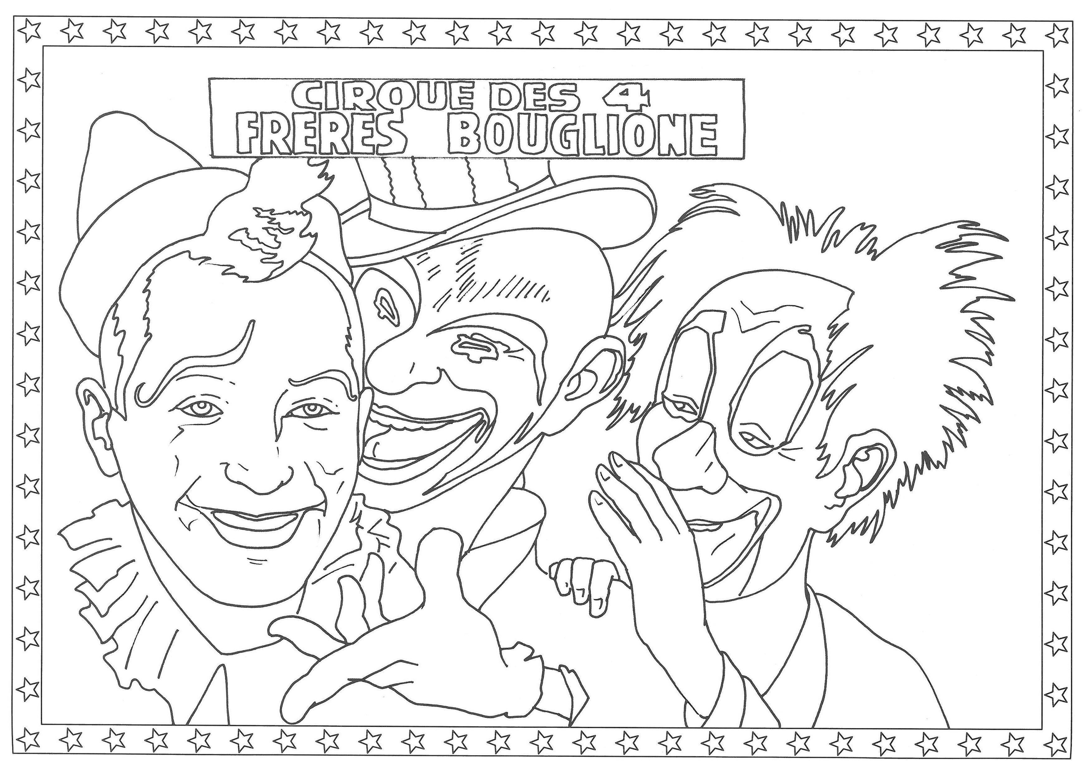 Toute la vie et les affiches du Cirque d Hiver Bouglione  colorier ©