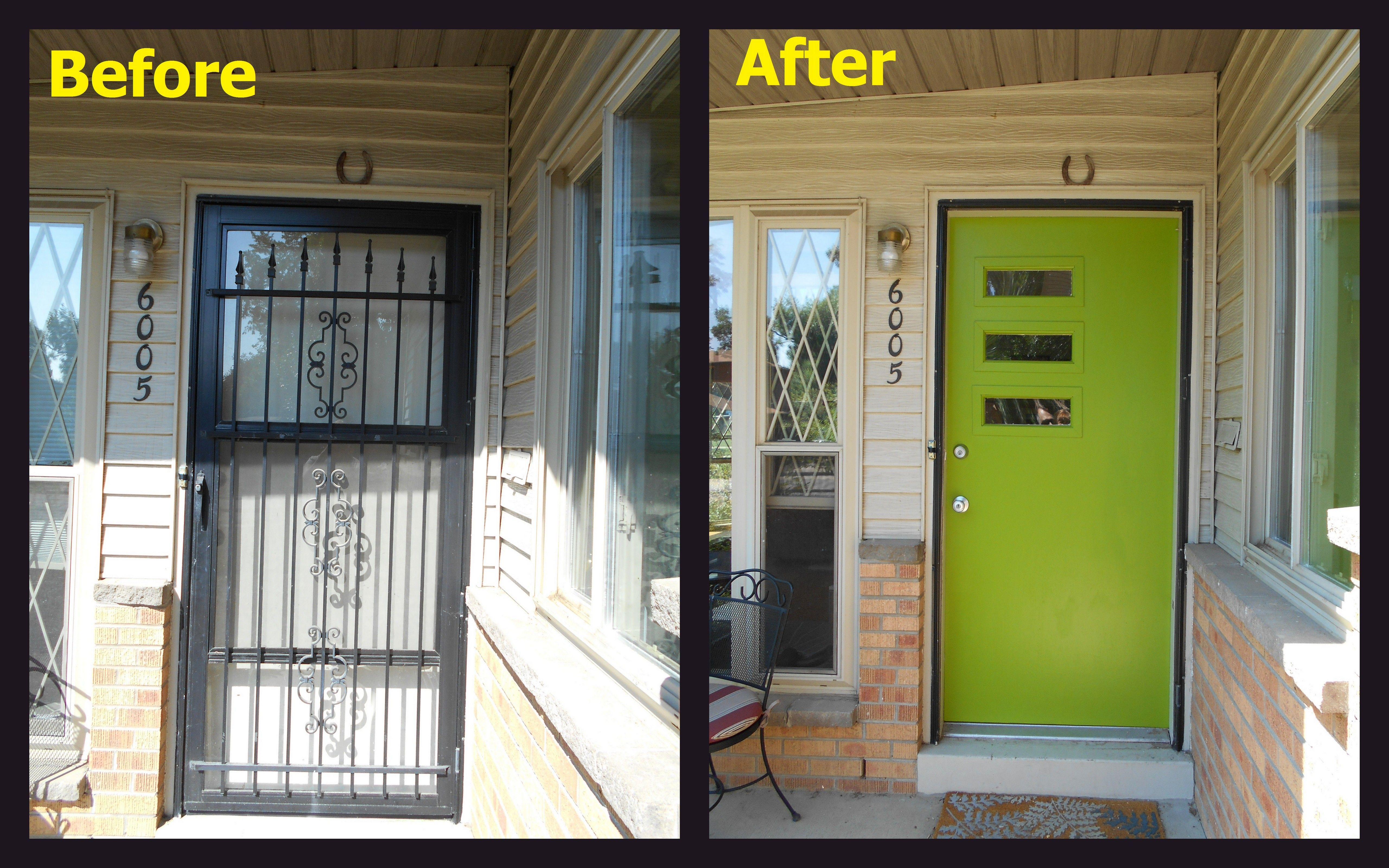 DIY front door makeover at Robin and Kevin's Atomic Ranch