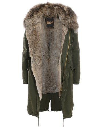 46c2b94ee0222 Verypoolish - Barbed Fur Parka Coat