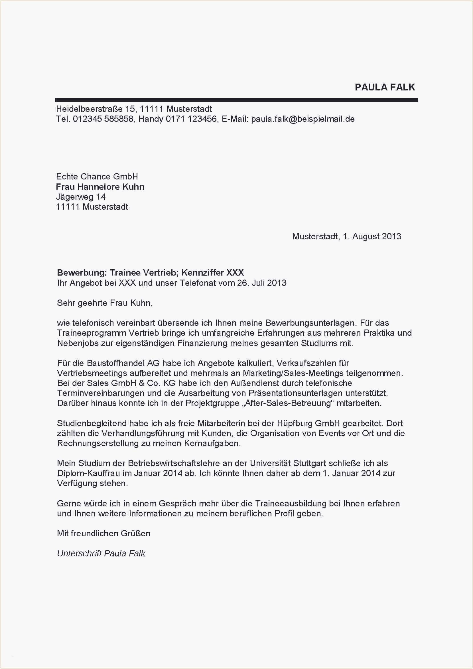 Frisch Bewerbungsvorlage Pdf Briefprobe Briefformat Briefvorlage Lebenslauf Lebenslauf Muster Vorlagen Lebenslauf