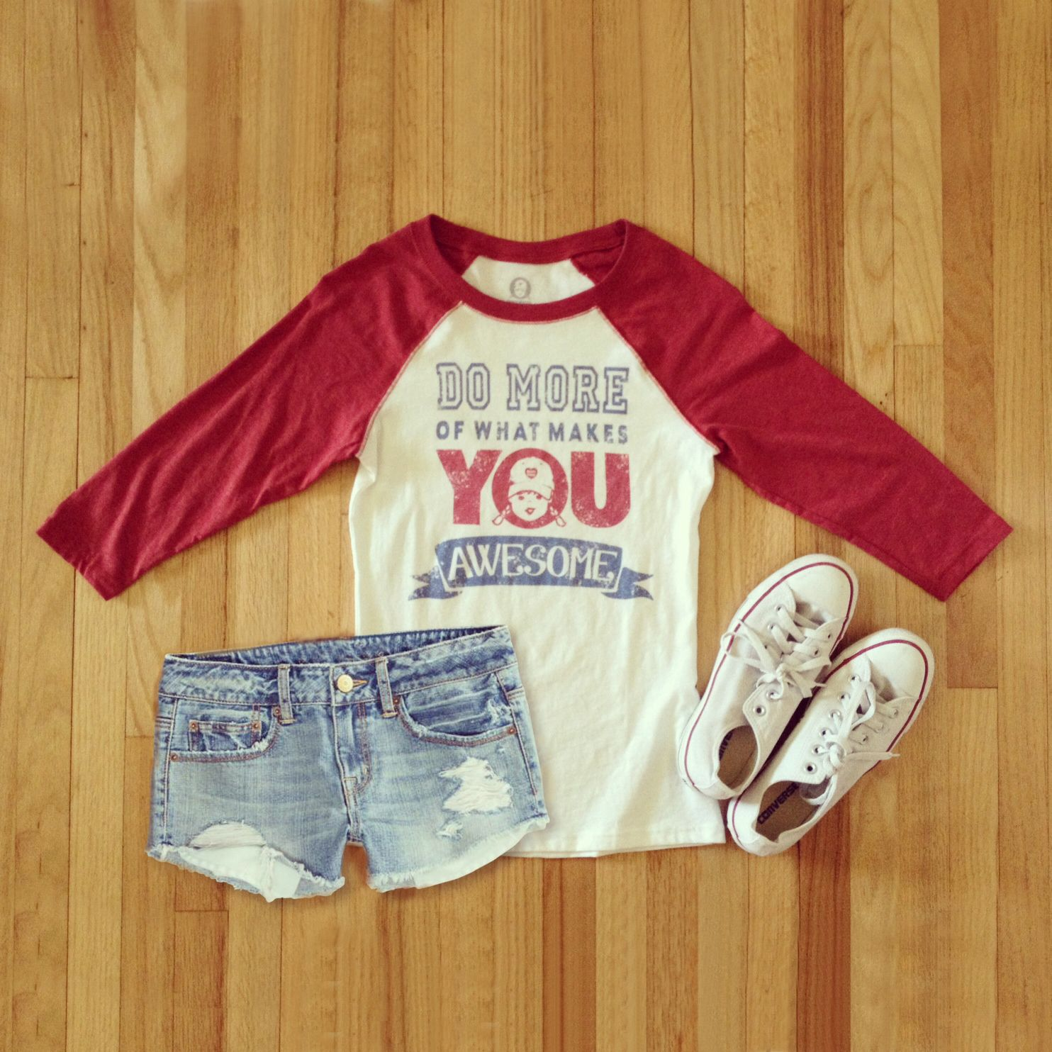 8c4500b02d7af Baseball Raglan Tee Quotes T Shirts Do More Of What Makes YOU ...