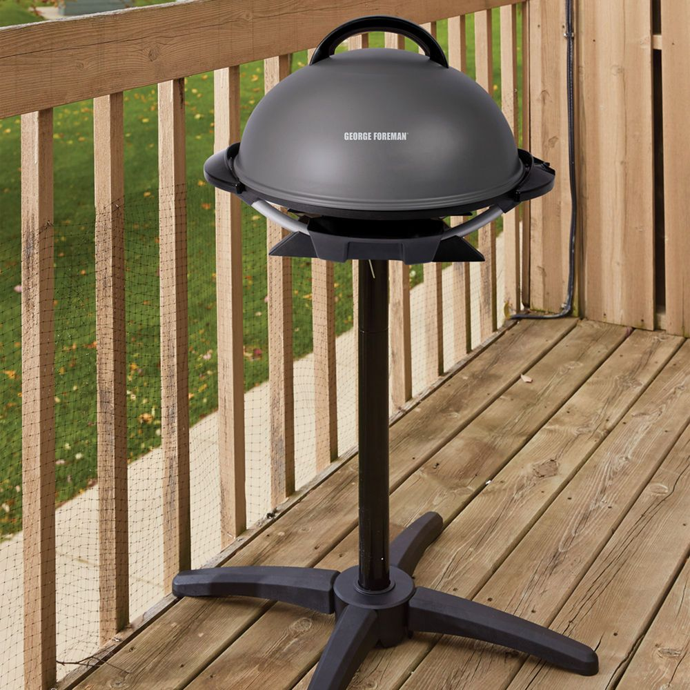 Electric Grills Outdoor Foreman Mini Barbecue Grill Stand And Nonstick Coating Georgeforemangrills Outdoor Electric Grill Indoor Outdoor Grill Outdoor Grill