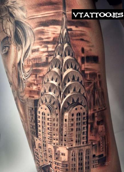 Chrysler Building With Images Unique Tattoo Designs Tattoos