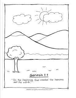 Genesis 1 1 Free Printable Coloring