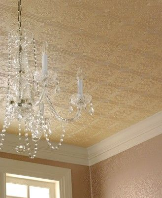 Tin Ceilings Victorian Wallpaper Paintable Wallpaper Tin Ceiling