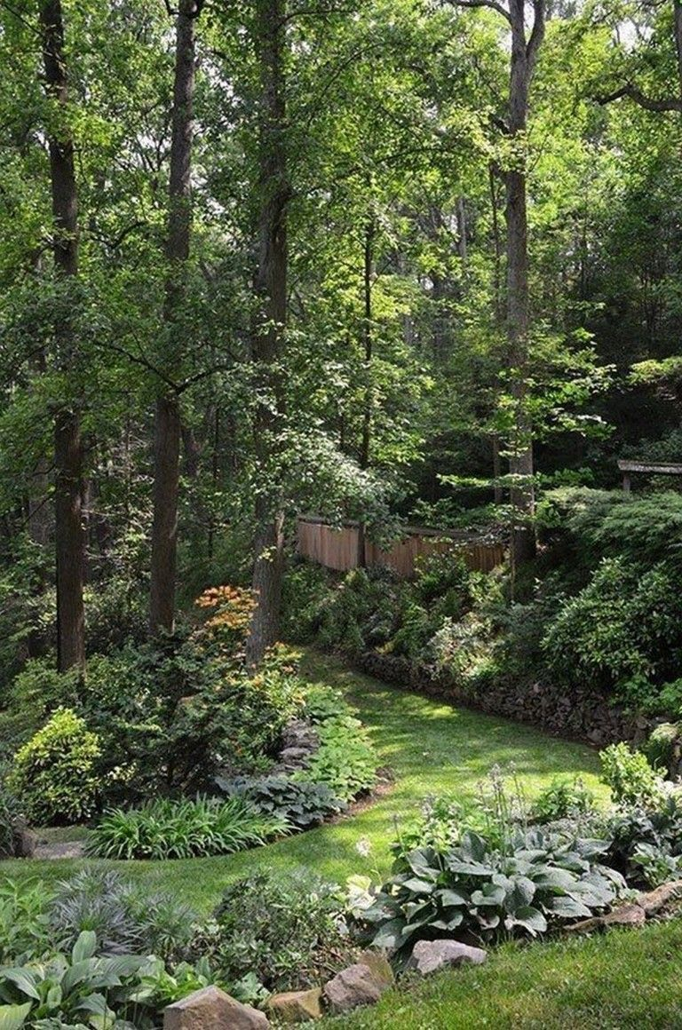 30 Inspirations Love The Blending Of Garden Into Forest Garden
