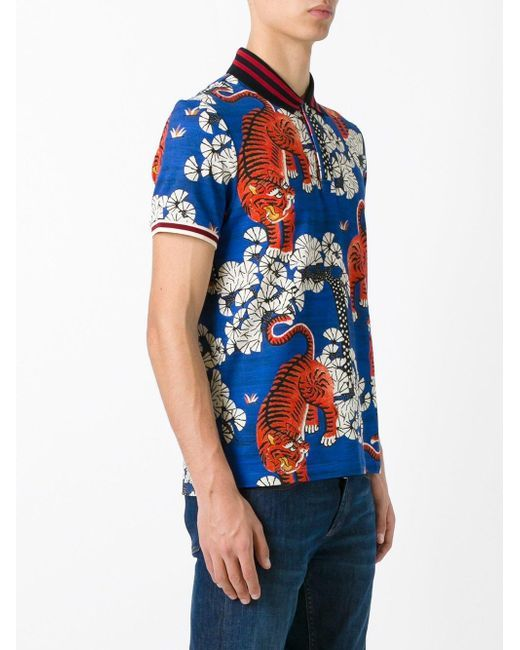 6b2a79746 Gucci Bengal print polo shirt - For an instant uniform refresh look no  further than Gucci s