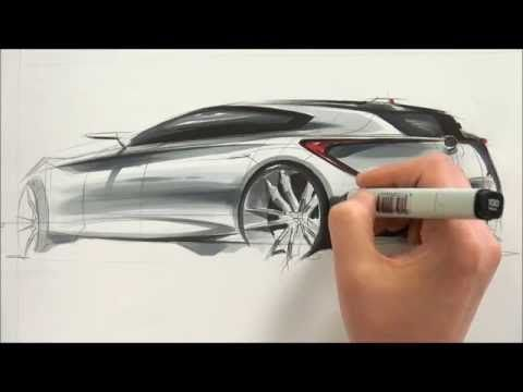 Car sketch, quick, render, interesting sketch and render. ps: turn ...