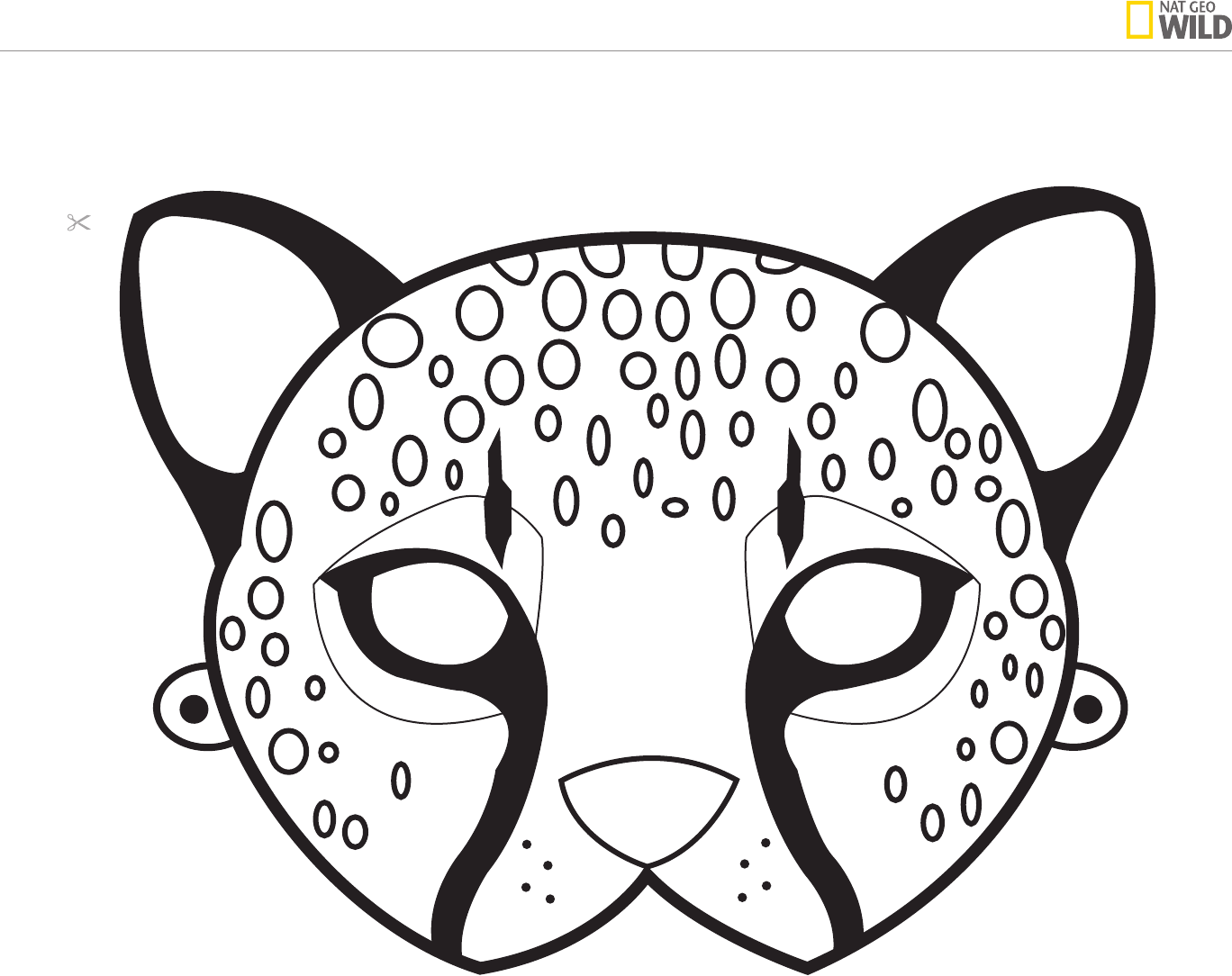 Cheetah Mask A4 Printable Free Camping Out Of Africa Safari Jungle