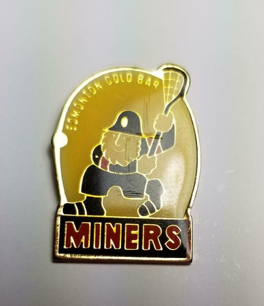 Edmonton Gold Bar Miners Lacrosse Lapel Hat Pin 1669 Gold Bar Hat Pins Lacrosse