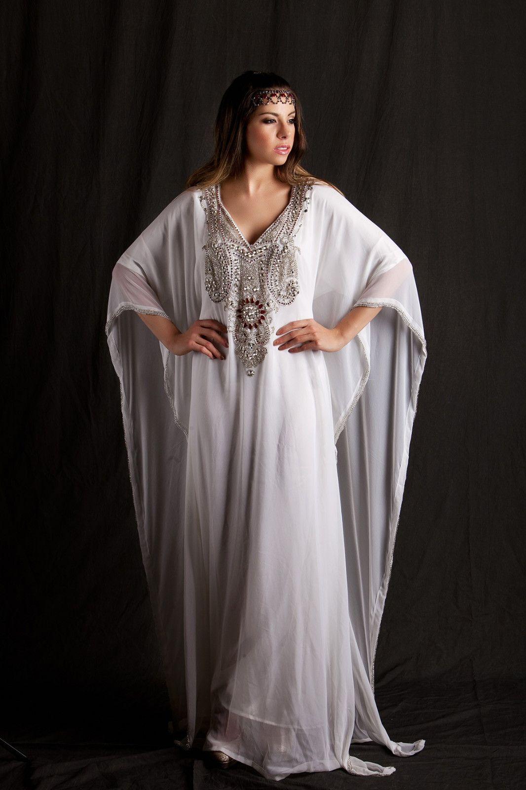 White Kaftan Wedding Gown Kaftan  e91b76d6a