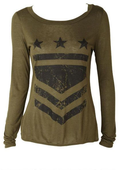 Long Sleeve Military Tee - View All Tops - Tops - Clothing - Alloy Apparel
