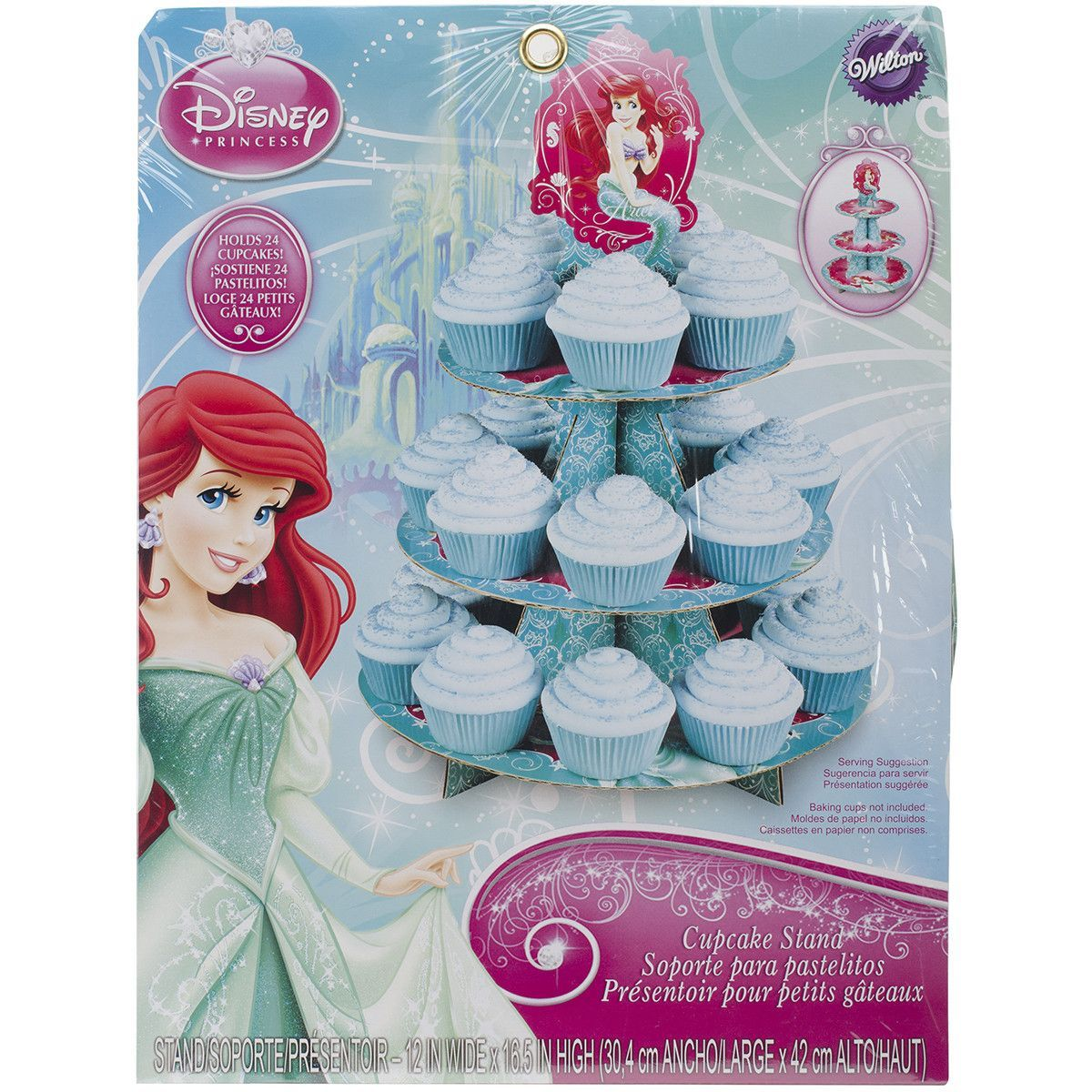 Treat Stand-Ariel 12X16.5 Holds 24 Cupcakes