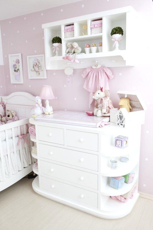 Quarto de bebê com enxoval rosa dos sonhos  Girls, Atelier and Love this