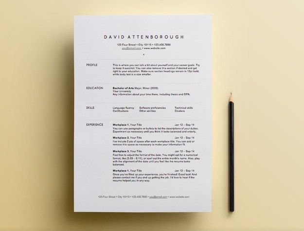 Here are a whole bunch of free résumé templates. | 7 Easy Ways To Be A Better College Student This Week