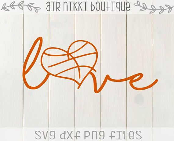 Download Basketball Love, basketball heart, sports SVG, PNG, DXF ...
