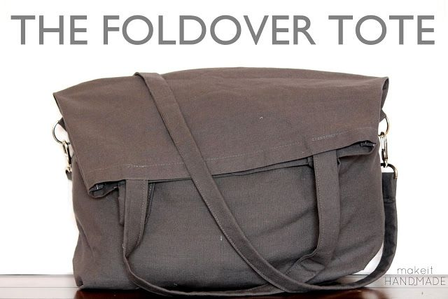 The foldover tote: free tutorial for a fun bag that carries a lot or just a little! #free #sewing #tutorial | www.makeithandmade.com