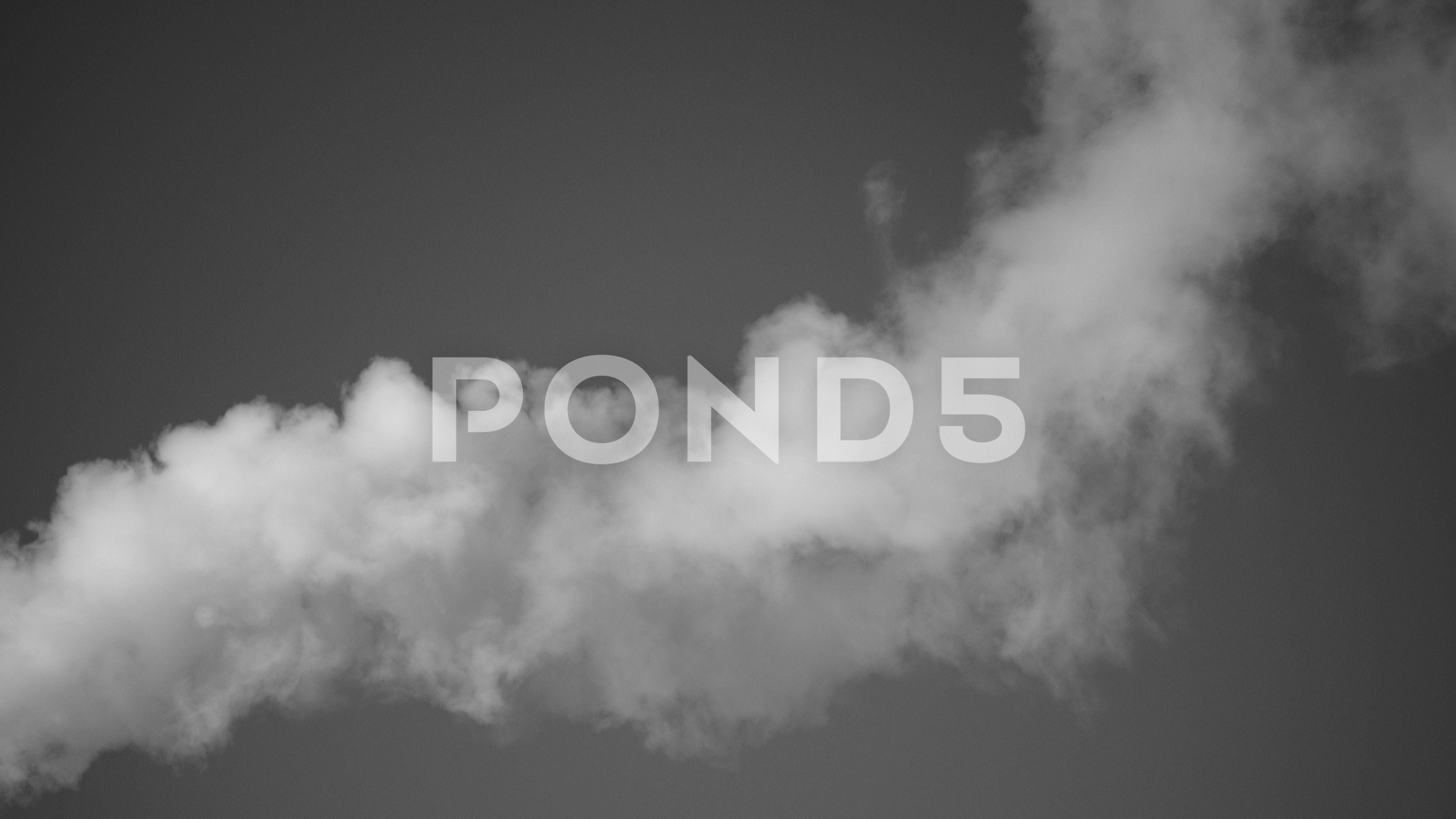 White Smoke In The Sky Bw 4k Stock Footage Sky Smoke White