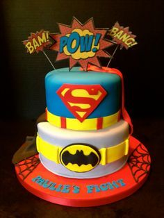 Birthday Cakes A superhero cake for a 2 year old superhero 3
