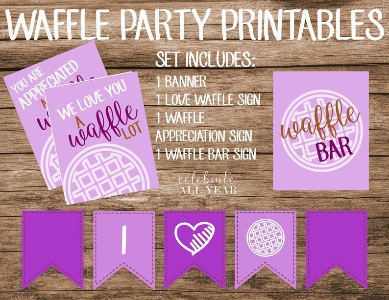 Waffle PartyDecor in purple | Etsy