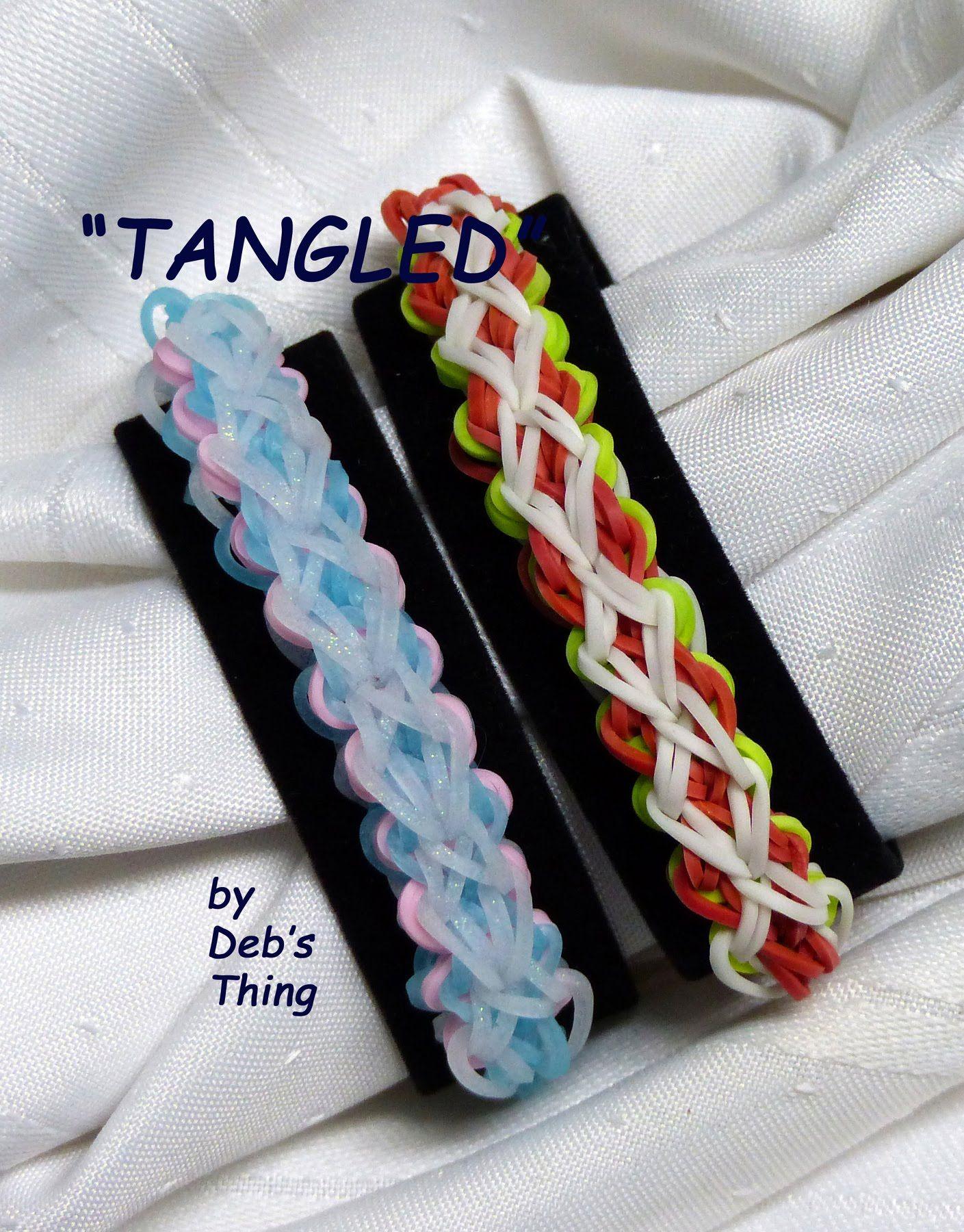 "Rainbow Loom Bracelet - Original Design - ""TANGLED"" (ref # 3Pjj)"